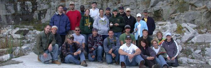 Buffalo State students outdoors on field trip