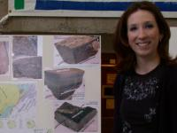 Student presenting earth sciences research